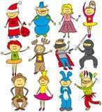 малыши рождества счастливые иллюстрация штока