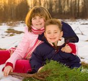 малыши рождества Стоковые Фотографии RF