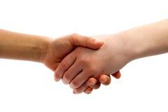 малыши рукопожатия Стоковое фото RF