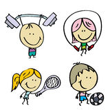 Малыши спорта Стоковая Фотография