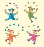 малыши цирка Стоковая Фотография