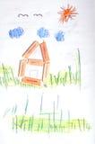 малыши чертежа Стоковые Фотографии RF