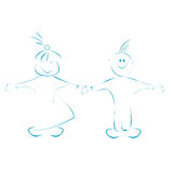 малыши шаржа счастливые Стоковые Фото