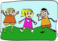 малыши шаржа Бесплатная Иллюстрация