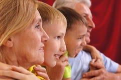 малыши grandparents Стоковое Изображение