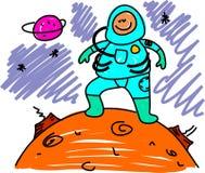 малыш астронавта иллюстрация вектора