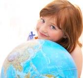 малыш глобуса стороны стоковые изображения