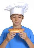 Малыш горячей сосиски. Стоковые Изображения RF