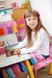малыш девушки меньшяя картина Стоковое фото RF