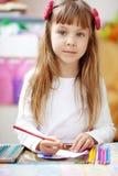 малыш девушки меньшяя картина Стоковые Изображения