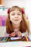 малыш девушки меньшяя картина Стоковое Изображение RF