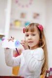 малыш девушки меньшяя картина Стоковое Фото