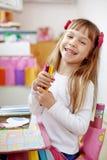 малыш девушки меньшяя картина Стоковые Изображения RF