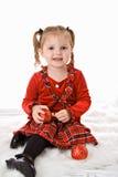 малыш девушки рождества Стоковая Фотография RF