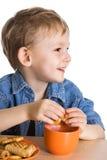 малыш завтрака Стоковые Изображения