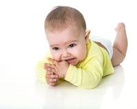 малыш кладя портрет Стоковая Фотография