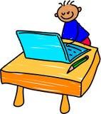 малыш компьютера Стоковая Фотография