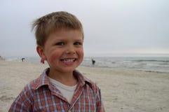 малыш около моря Стоковые Фото