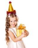 малыш подарка коробки дня рождения Стоковые Изображения RF