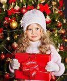 малыш подарка рождества коробки Стоковые Фото