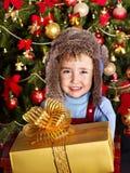 малыш подарка рождества коробки Стоковые Изображения RF