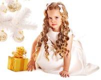 малыш подарка рождества коробки Стоковые Фотографии RF