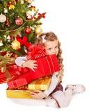 малыш подарка рождества коробки Стоковое Изображение RF