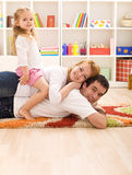 малыш семьи счастливый Стоковые Изображения