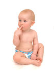 малыш сидит думает Стоковая Фотография RF