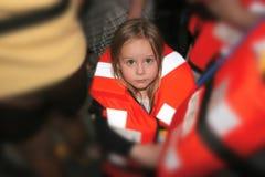 малыш спасательного жилета Стоковые Изображения