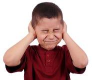 малыш ушей заволакивания стоковая фотография rf
