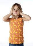 малыш ушей заволакивания стоковое изображение rf