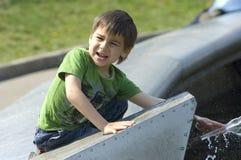 малыш фонтана Стоковое Изображение