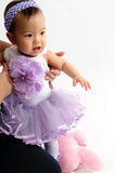 малыш цветка платьев любит Стоковое Фото