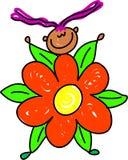 малыш цветка иллюстрация вектора