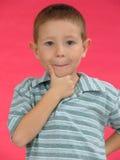 малыш c выразительный стоковая фотография