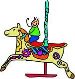 малыш carousel Стоковая Фотография