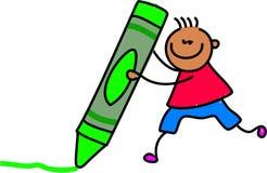 малыш crayon иллюстрация вектора