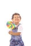 малыш lollipop большой стороны смешной Стоковое фото RF