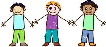 малыш s чертежа дня детей Стоковая Фотография