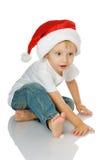 малыш santa шлема рождества Стоковое фото RF