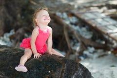 малыш swimsuit девушки шаловливый Стоковое Изображение