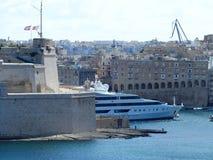Мальта, Валлетта, яхта стоковая фотография rf