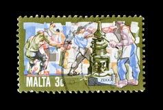 Мальта на печатях почтового сбора стоковое изображение rf