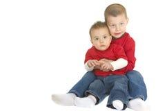 мальчики милые каждый hug другие 2 Стоковые Изображения