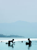 мальчики пляжа стоковые изображения rf