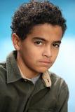 мальчик афроамериканца стоковое фото