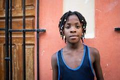 Мальчик Афро Портрет кубинского мальчика стоковая фотография