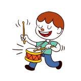 Мальчик барабанщика бесплатная иллюстрация