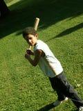 мальчик бейсбола стоковые фотографии rf